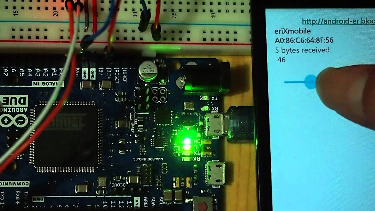 Android Bluetooth to control LED brightness on Arduino Due + HC-06