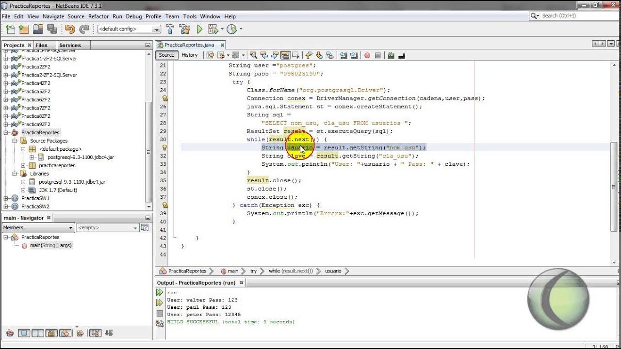 Conexión Base de datos Postgres con Java (Netbeans) - YouTube