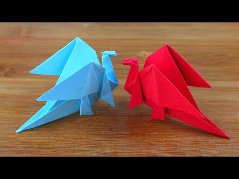 How to Make Easy Origami Dragon - Origami Dragon - DIY 3D Paper Dragon Easy Tutorial