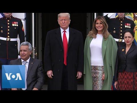 Trump Welcomes Ecuadorian