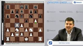 Radjabov-Vidit, Tata Steel Chess 2019: Svidler's Game of the Day