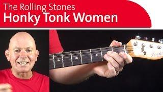 Honky Tonk Women - Rolling Stones. Guitar Lessons -  Intro Practice