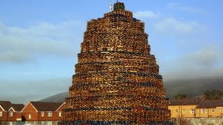 Bonfires in Northern Ireland (eleventh night)  Belfast & Bangor