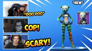 STREAMERS REACT TO *NEW* SPOOKY TEAM LEADER SKINS(FORTNITE FUNNY MOMENTS)