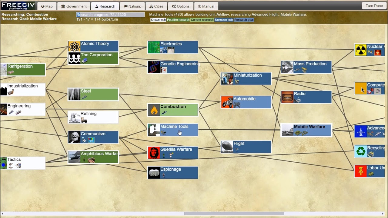 Freeciv-web - open source turn-based strategy game
