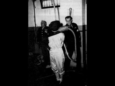 СЛАБОНЕРВНЫМ НЕ СМОТРЕТЬ +18 Казнь военных преступников Нюрнберг 24 мая 1946