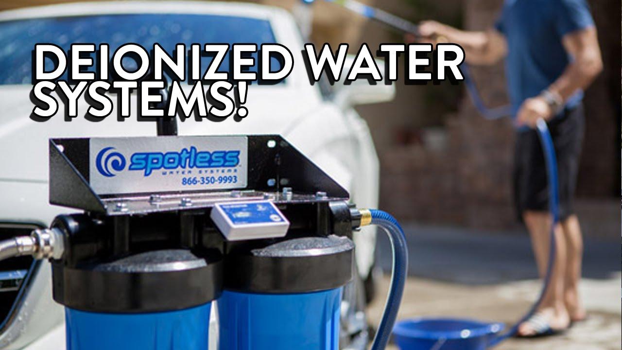 Deionized water system car wash