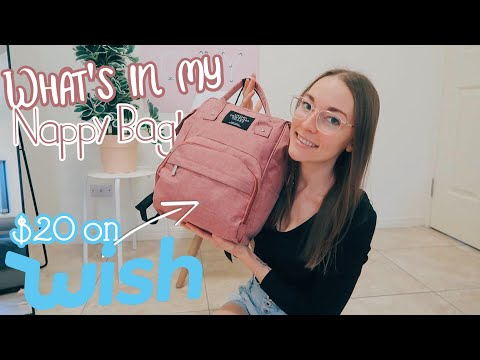 WHAT'S IN MY NAPPY BAG | $20 NAPPY/DIAPER BAG FROM WISH