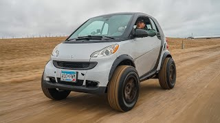 Lifting my Smart Car!!