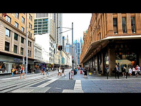 SYDNEY Walks - Bridge Street Tram Stop To QVB Tram Stop / Queen Victoria Building Shopping Centre