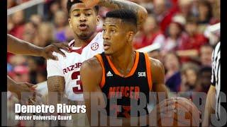 Demetre Rivers -  Mercer University Highlights 2015 -16 Season