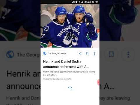 SEDIN'S NHL RETIREMENT on APRIL 6th 2018 FROM THE VANCOUVER CANUCKS vs the Arizona coyotes