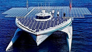 World's Largest Solar Powered Boat - First to Circle Globe - MS Tûranor PlanetSolar
