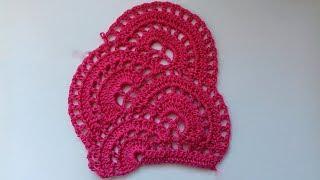 Красивое ленточное кружево для платья. Вяжем и читаем схему вязания.