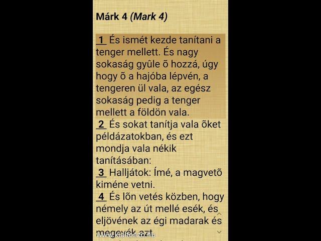 Márk evangéliuma, 4. fejezet (Jézus példabeszédeinek magyarázata