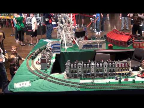 Modelling Railway Train Track Plans -Superb LEGO show in Melbourne Australia.