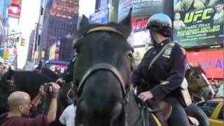 Ocupy Wall Street protesters attacked and arrested at Times Square