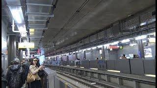 【相鉄JR直通線開通】開通日でもあり新駅開業日の羽沢横浜国大駅ホームを端から端まで歩いた風景