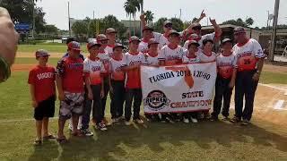 2018 Cal Ripkin 12U Major 60 Florida State Champions!
