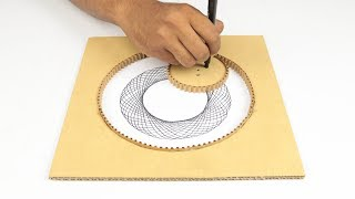 How to make Design Drawing Machine From Cardboard
