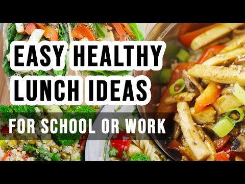 Easy Healthy Vegan Lunch Ideas for School or Work thumbnail