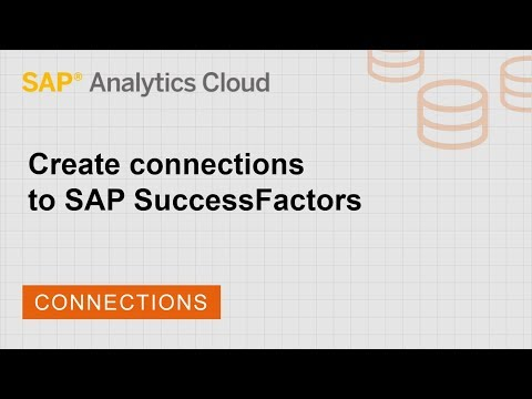 Create connections to SAP SuccessFactors | SAP | SAP