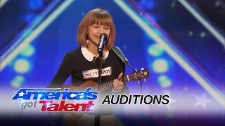 Grace VanderWaal: 12-Year-Old Ukulele Player Gets Golden Buzzer - America's Got Talent 2016(A 12-year-old ukulele player gets the golden buzzer when she takes a risk and performs an original tune,