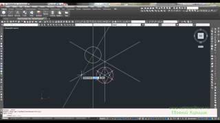 Построение окружности (круга) в прямоугольной изометрии 1 способ