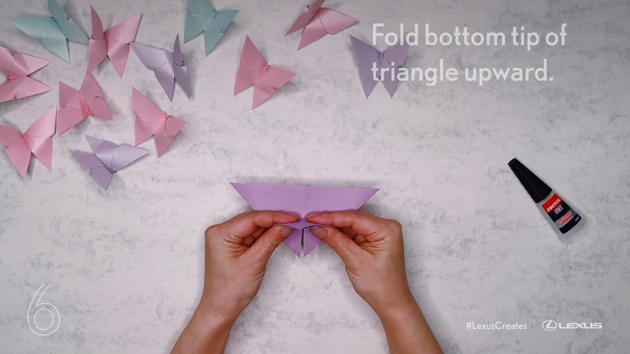 Lexus Creates: How to fold an origami butterfly