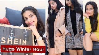 HUGE SHEIN WINTER HAUL - COATS, JACKETS, BOOTS, BAGS, SHOES | Sana K