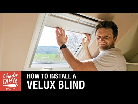 How to Fit a Velux Blind