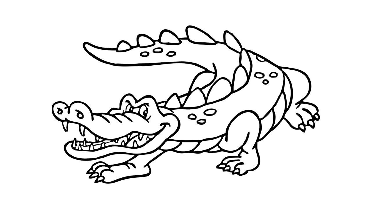 Картинки крокодила карандашом
