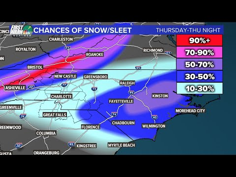 Snow Forecast For Charlotte Metro: Heres How Much You Can Expect