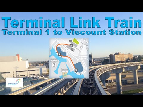 Terminal Link Train - Toronto Pearson Airport 2006 Link Train (Terminal 1 Stn to Viscount Stn)