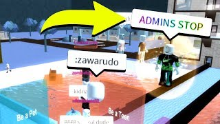 USING ADMIN COMMANDS TO FREEZE THE SERVER! (Roblox)