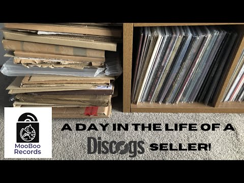 A Day In The Life of a Discogs Seller!    How I package and send records!