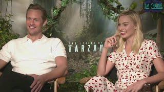 MIX!!!! The Legend of Tarzan (2016) FUNNY Interviews Margot Robbie and Alexander Skarsgard
