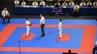 RECCHIA ALEXANDRA vs PLANK BETTINA, European Karate Championship 2018