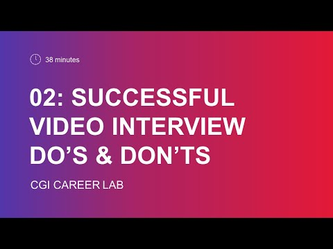 Successful video interview do's & don'ts
