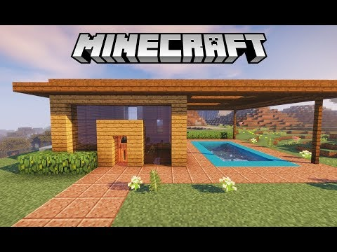 Minecraft Tutorial : Casa Moderna de Madeira no Survival