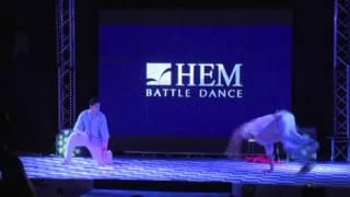 showcase meferw7iin best duo break dance hem batlle dance with rashid show