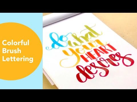 Colorful Brush Pen Lettering, Love Quotes and phrases
