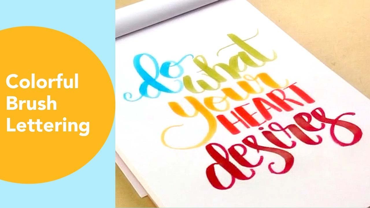 Colorful Brush Pen Lettering Love Quotes And Phrases Youtube