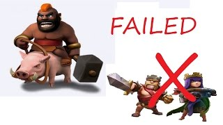 Clash of Clans: Worst Failed Max Hog Attack Ever - Trap Base
