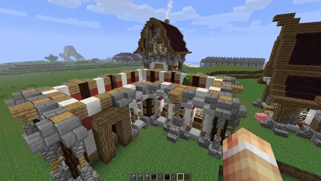 Tuto Minecraft Maison Mediévale Et Reconstruction De Kaegys Town