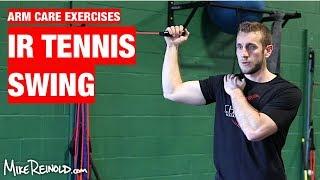 Shoulder IR Diagonal Tennis Swing Exercise - Arm Care Shoulder Program