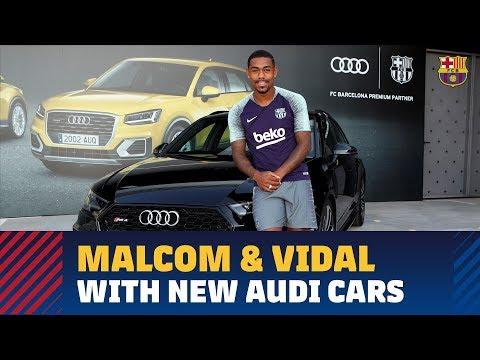 Malcom and Arturo Vidal get their new Audi cars