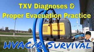 TXV Diagnoses & Proper Evacuation 228 Microns In 1 Min 45 Sec