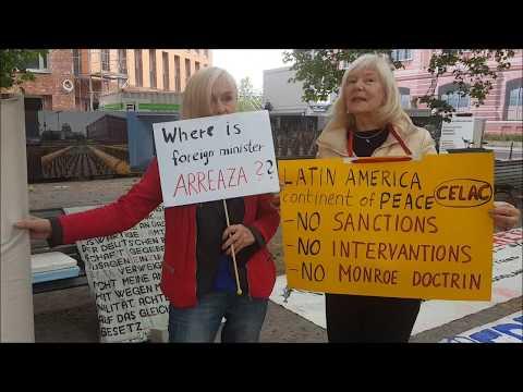 Berliner Bündnis #HaendewegvonVenezuela Protest vor Lateinamerika- u. Karibik-Konferenz