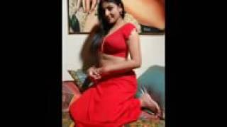 Aunty Hot in Red color saree | Hot figure lookig sexy